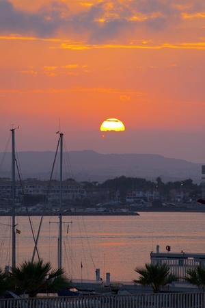 スペインの海の夕日