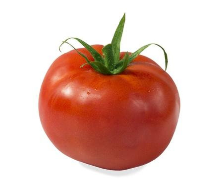 白い背景上に分離されて新鮮な完熟トマト 写真素材