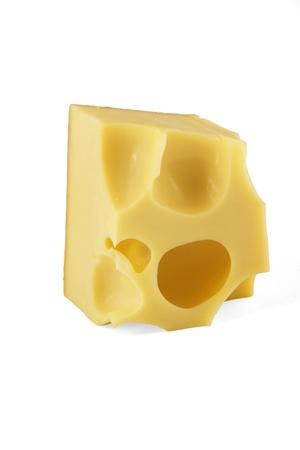 白い背景の上のチーズの部分