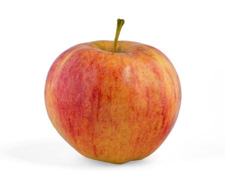 白い背景で隔離赤いリンゴ 写真素材