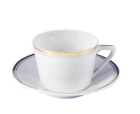 白い背景に空のコーヒー カップ