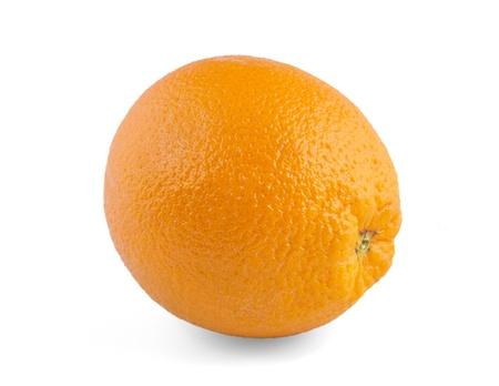 オレンジ色の白い背景で隔離