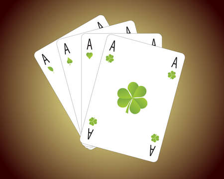 Hand of Aces illustrating the concept of winning with green technologies Vector