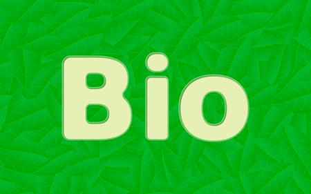 illustration of a fresh bio concept