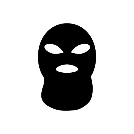 guerrilla: Terrorist or bandit mask icon. Silhouette vector illustration