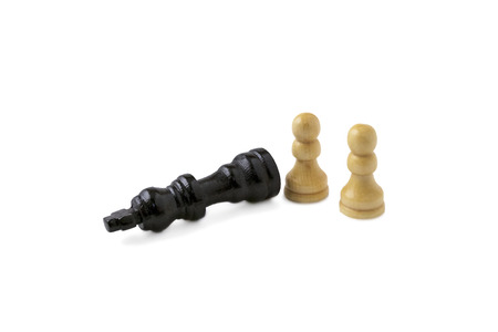 pawns: two white pawns and checkmate for black king