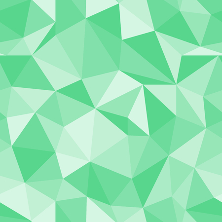 Brilliant seamless beautiful green pattern. Abstract diamond triangle vector background. Illustration