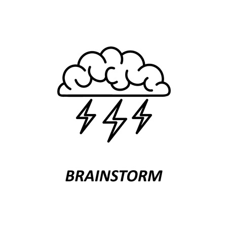 Brain, Brainstorming, Idea, Creativity Logo And Icon. Vector ...