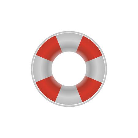 Lifebuoy lifebelt icon on the white background. Vector design