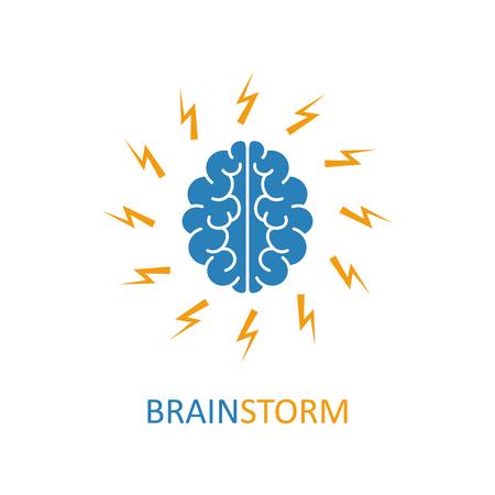 science symbols metaphors: Brain, brainstorming, idea, creativity icon.