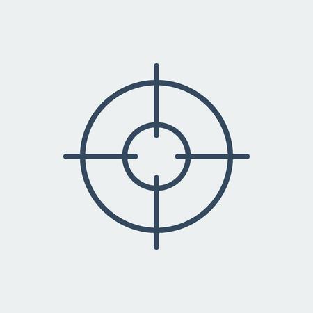 Aim icon. Target symbol. Crosshair. Silhouette vector illustration Illustration