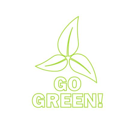 tree logo: Go green! Eco icon with leaves. Vector illustration