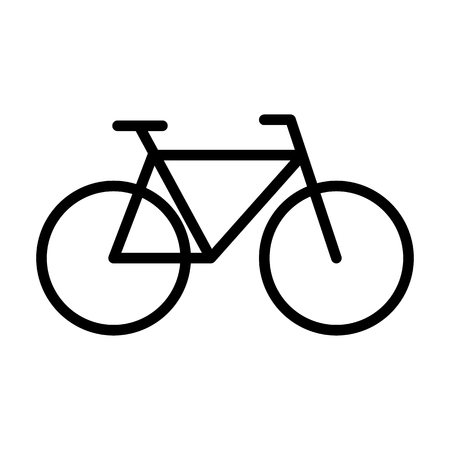 Bicycle line icon. Navigation and transport sign in outline style. Vector graphic