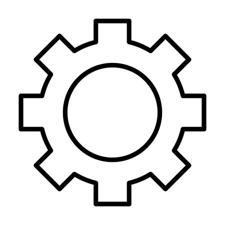 Tandwiel wielpictogram. Kogge lineaire teken. Opties, voorkeuren en instellingen symbool in kaderstijl. Vector Stockfoto - 83803105