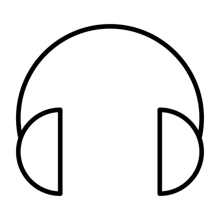 Headphones thin line icon. 96x96 for Web Graphics and Apps.  Simple Minimal Pictogram.Vector