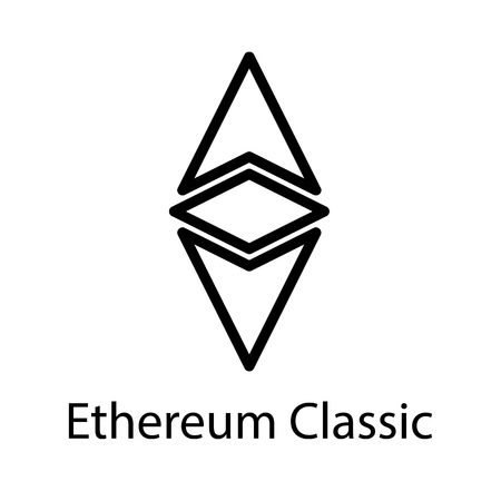 Ethereum Classic icon for internet money. Crypto currency symbol for using in web projects or mobile applications.