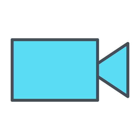 Video camera line icon vector symbol flat design
