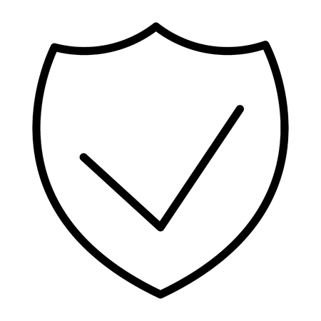 Security Shield Thin Line Icon