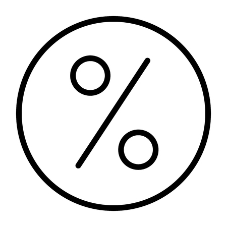 Discount Perfect Vector Thin Line Icon 48x48 Ready for 24x24 Grid for Web Graphics and Apps. Simple Minimal Pictogram