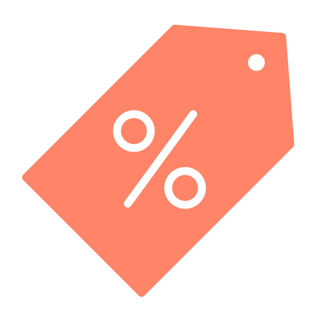 Discount Price Tag Pixel Perfect Vector Silhouette Icon 48x48 Ready for 24x24 Grid for Web Graphics and Apps. Simple Minimal Pictogram