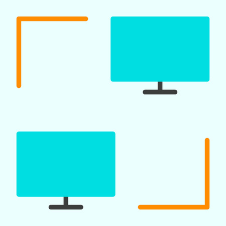 Computer Network Icon for Web Graphics and Apps. LAN Simple Minimal Pictogram. Vector Illustration