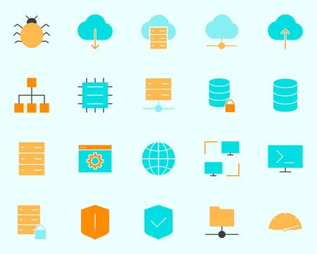 Hosting Icon.  96x96 for Web Graphics and Apps.  Simple Minimal Pictogram. Vector Illustration