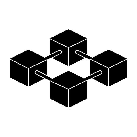 Blockchain Icon. 96x96 for Web Graphics and Apps. Simple Minimal Pictogram. Vector