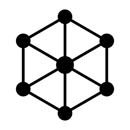 Blockchain Node Icon for Web Graphics and Apps. Simple Minimal Pictogram.