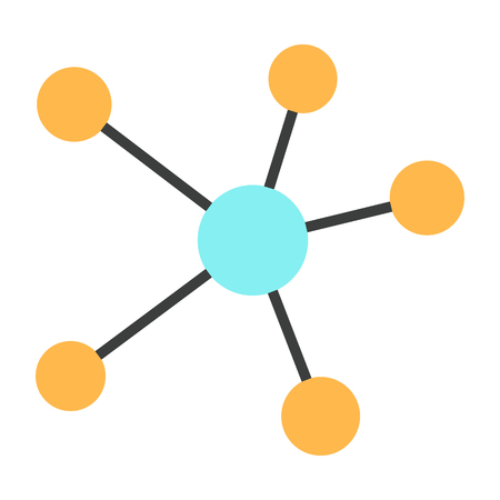 Network dots and line icon illustration Illustration