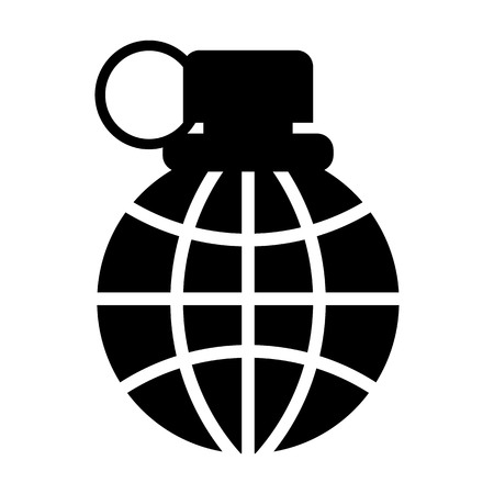 Grenade icon for web graphics and application simple vector. Illustration