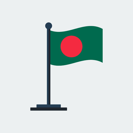 Flag Of Bangladesh. Flag Stand On White Background. Vector Design Banque d'images - 100252802