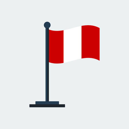Flag Of Peru.Flag Stand On White Background. Vector Design