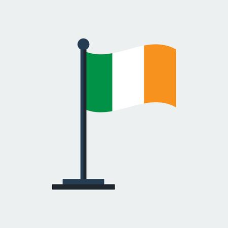 Flag Of Ireland.Flag Stand On White Background. Vector Design