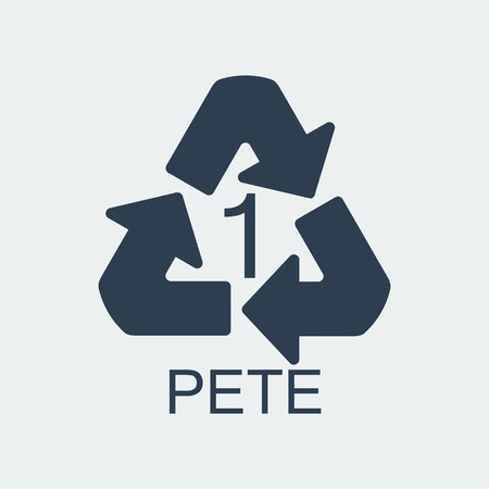 Plastic recycling symbol PETE 1,Wrapping Plastic, Label. Packing Sign for Food.Vector Design