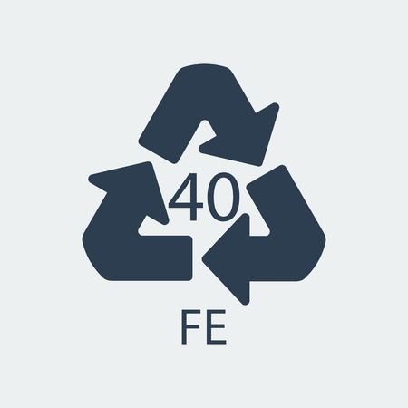 Plastic recycling symbol FE 40,Wrapping Plastic, Label. Packing Sign for Food.Vector Design