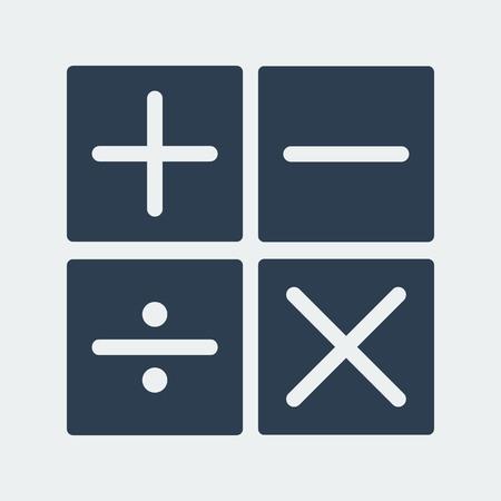 Calculator arithmetic operation.Mathematical signs.Vector Design  イラスト・ベクター素材
