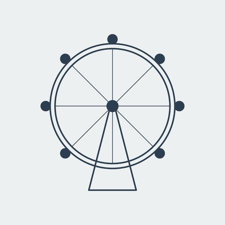 Ferris wheel icon.Entertainment park sign.Vector Design