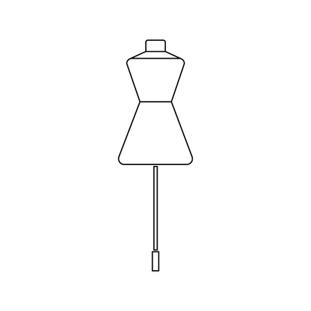Mannequin line icon for web, mobile and infographics.Vector Illustration