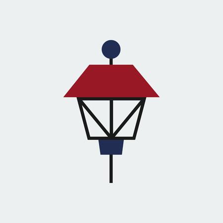 Colored Park  Lamp Icon.Flat Design.Vector Design