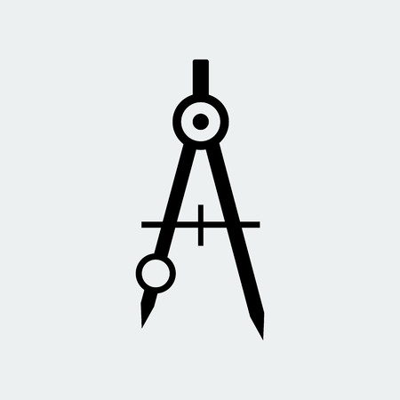 Drawing Compass Icon Stationery.Vector Design