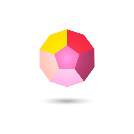 Polygonal geometric figure.Logo design on white background.Vector Illustration Illustration