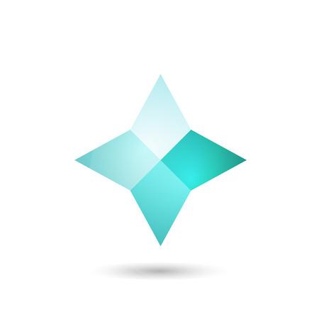 Polygonal geometric figure.Logo design on white background.Vector Illustration  イラスト・ベクター素材