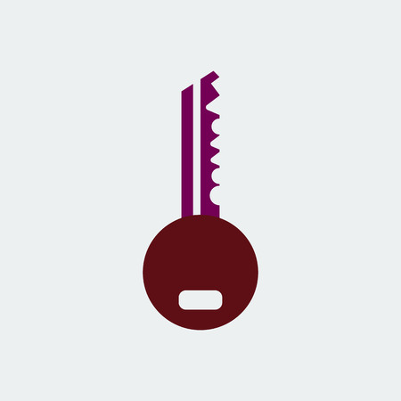Flat Line Key Icon.For Design and Websites, Presentation or Mobile Application.Vector Illustration Illustration