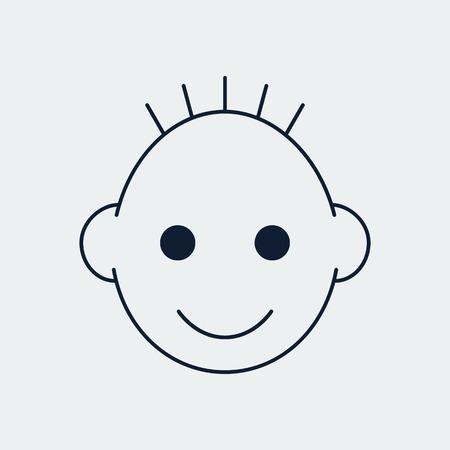 Children Line icon.For Design and Websites, Presentation or Mobile Application.Vector Illustration