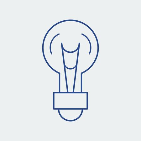 Light bulb line icon. Lamp silhouette vector illustration. Idea concept  イラスト・ベクター素材