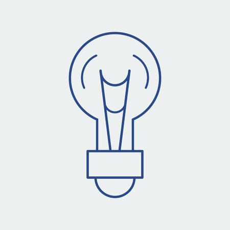 Light bulb line icon. Lamp silhouette vector illustration. Idea concept Illustration
