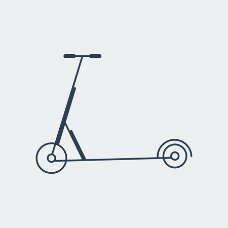 Scooter icon.Logo Template.For kids.On gray background.Vector Illustration Illustration