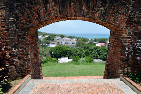 horrizon: Wall of Fortin Conde de Mirasol, Vieques Puerto Rico