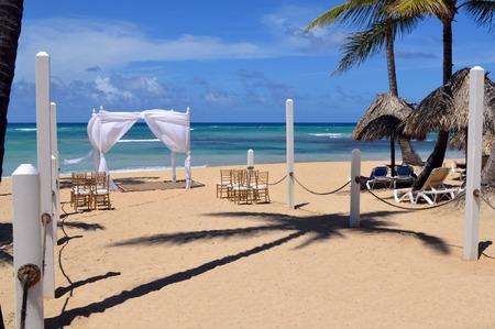 gazebo: This is a photo of a gazebo used for beach weddings