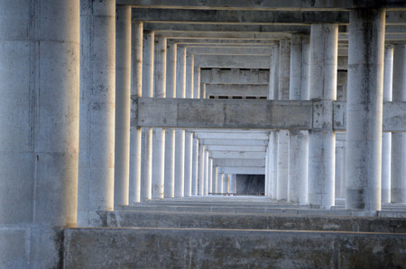 the structure supporting a bridge